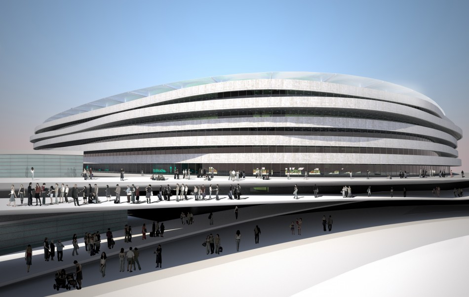 Municipal Stadium Wroclaw  Architecture - Uefa Euro 2012 Top Stadiums Municipal Stadium Wroclaw e1340184212733