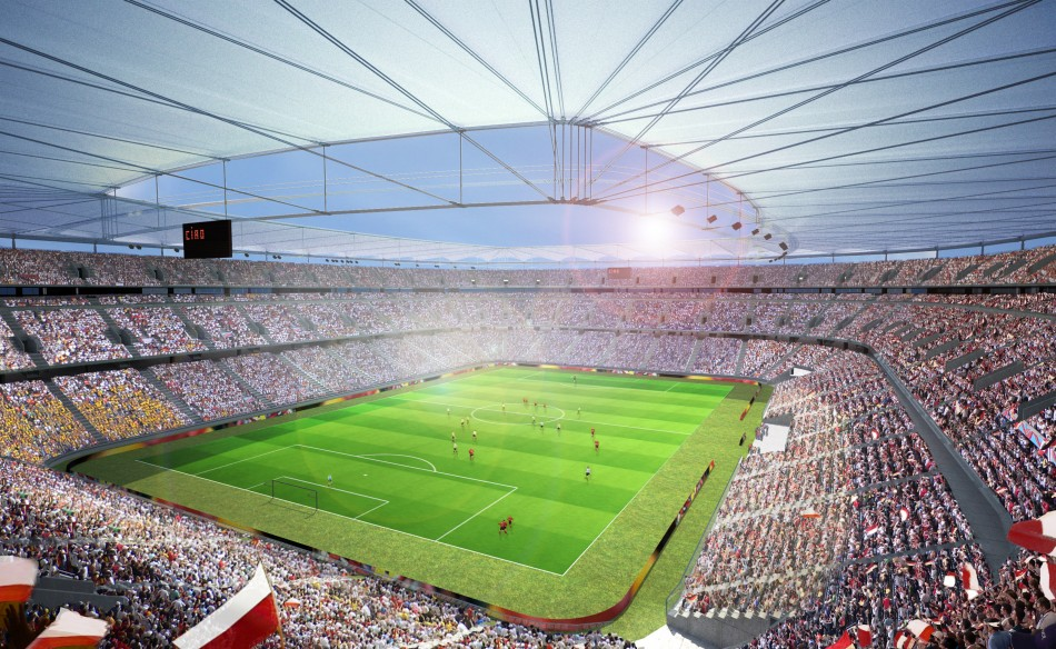 Municipal Stadium Wroclaw  Architecture - Uefa Euro 2012 Top Stadiums Municipal Stadium wroclaw1 e1340184456122