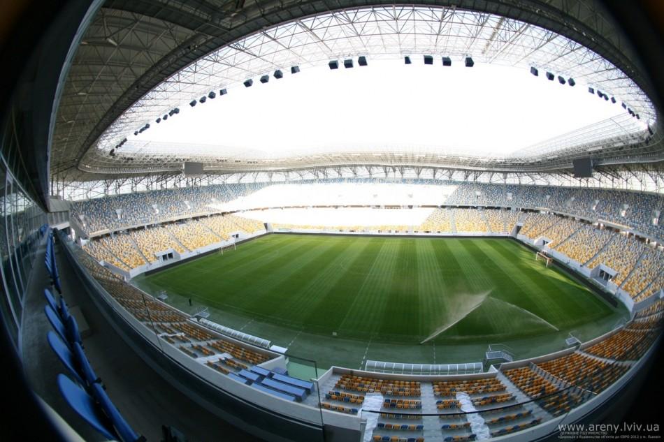 Arena Lviv  Architecture – Uefa Euro 2012 Top Stadiums arena lviv pitch1 e1340188925650