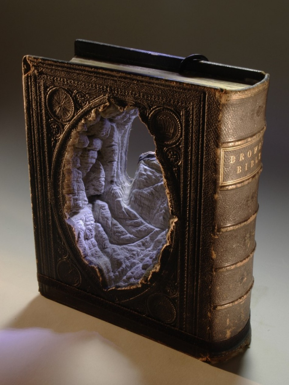Guy Laramee  Arts & Crafts – Book Art by Guy Laramee browns bible 1 769x1024 e1340190419664