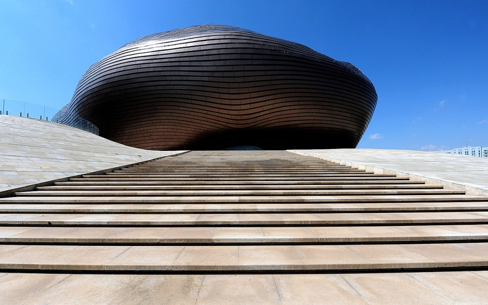 Ordos Museum  Architecture - Ordos Museum by MAD ordos museum 1 10 e1339154283904