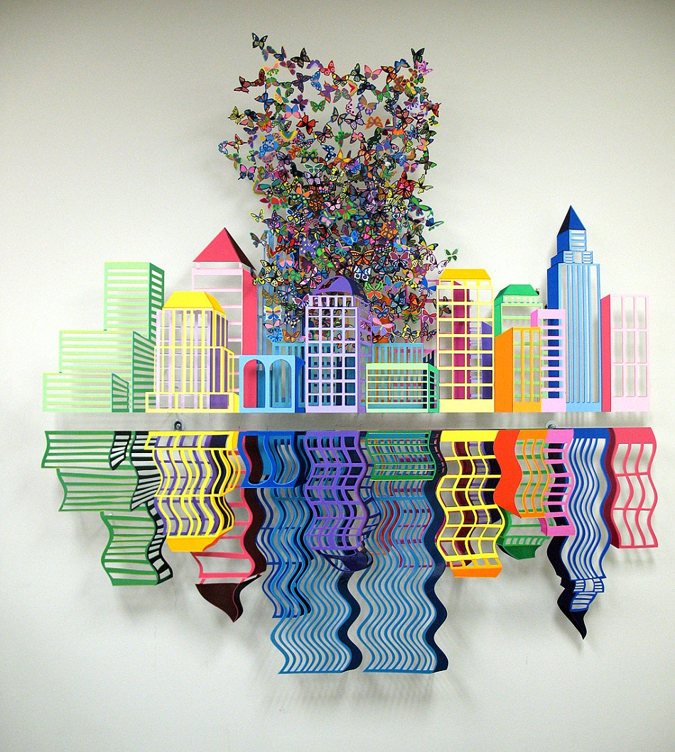 Regarding the start of Spring, and the colorful idea that the word reminds us, today I present the most colorful metal sculptures by David Kracov. Colorful metal sculptures Colorful metal sculptures by David Kracov 0027 Reflections