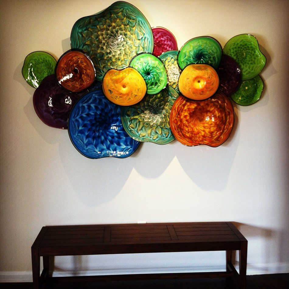 """""""Thomas Long has been blowing glass for more than 25 years. His specialization is large sculptures to embellish residential and commercial environments.""""   Art of glass by Thomas Long at AD show 2013 20130226 143413"""