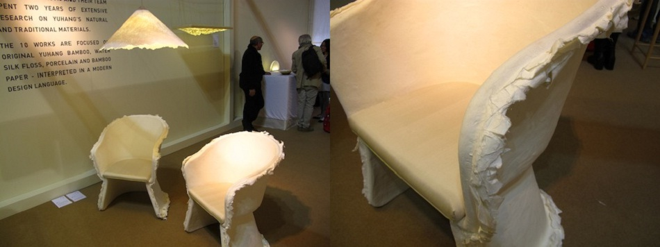 """""""Pinwu the chinese designers created a paper chair that worth them a nomination to Designs of the year by the London Design museum.""""  Tié Chair Designed by Pinwu: the paper chair Imag2"""
