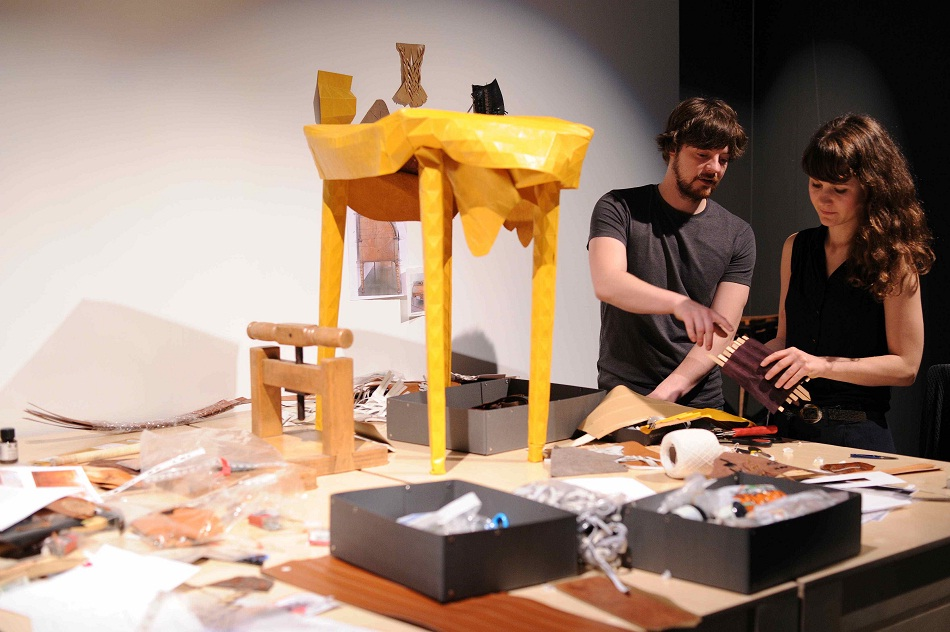 """""""At Art Basel, Fendi created a new concept of exhibiting. The Craft Alchemy is like flying furniture. It consists on a series of antique furniture pieces.""""  FENDI'S """"CRAFT ALCHEMY"""": FLYING FURNITURE imag2"""