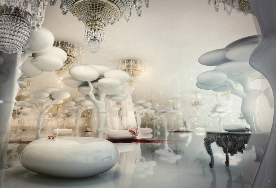 """""""I love the Wanders Collection by Marcel Wanders for Bisazza Bagno. The concept was to create a special place where we could the moment by ourselves."""""""