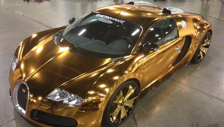 """""""Originally wrapped in chrome, Flo-Rida decided to change it up and turn it into a Golden Gatti. The change was in charge of Metro Wrapz."""""""