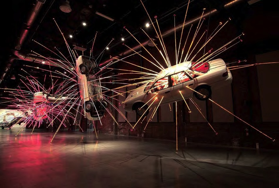 """""""Accomplished in a variety of media, Cai began using gunpowder in his work to foster spontaneity and confront the controlled artistic tradition and social climate in China."""" amazing sculptures Cai Guo-Qiang amazing sculptures in the best museums CaiGuoQiang 2"""