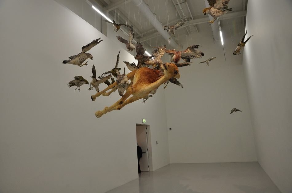 """""""Accomplished in a variety of media, Cai began using gunpowder in his work to foster spontaneity and confront the controlled artistic tradition and social climate in China."""" amazing sculptures Cai Guo-Qiang amazing sculptures in the best museums DSC 0394"""