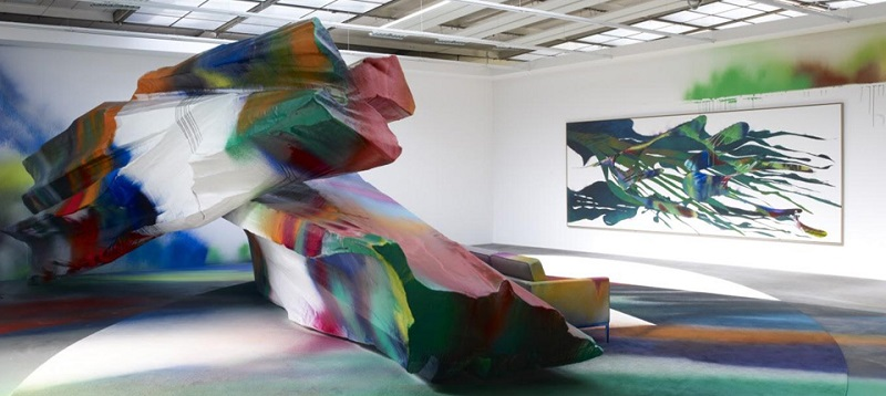 """""""This summer visitors to the Nasher can experience WUNDERBLOCK, an exhibition of works by Berlin-based artist Katharina Grosse.""""  NASHER SCULPTURE CENTER: COLORFUL SCULPTURES Untitled 1 copy"""