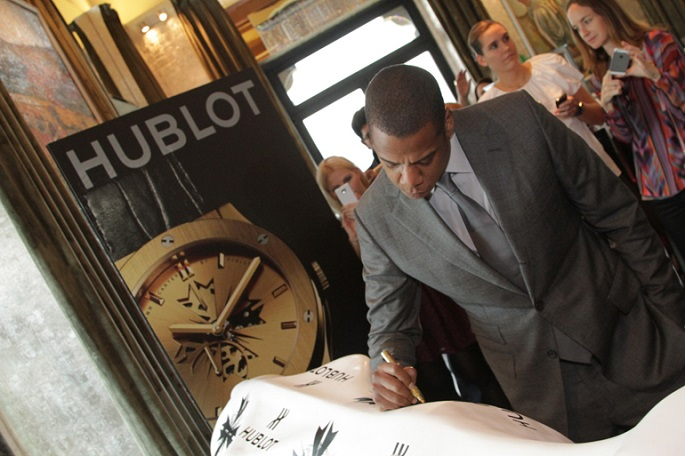 The famous rapper Jay-Z has just launched two limited edition watches for the Swiss Hublot.  Jay-Z partnership with Hublot creates new limited edition watch Jay Z Hublot partnership launch signing