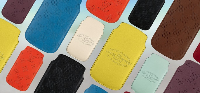 """""""Louis Vuitton decided to add to the collection with a line of Perforated Soft Leather Cases for Iphone 5.""""  Luxury iPhone covers from Louis Vuitton Louis Vuitton iPhone Softcases"""