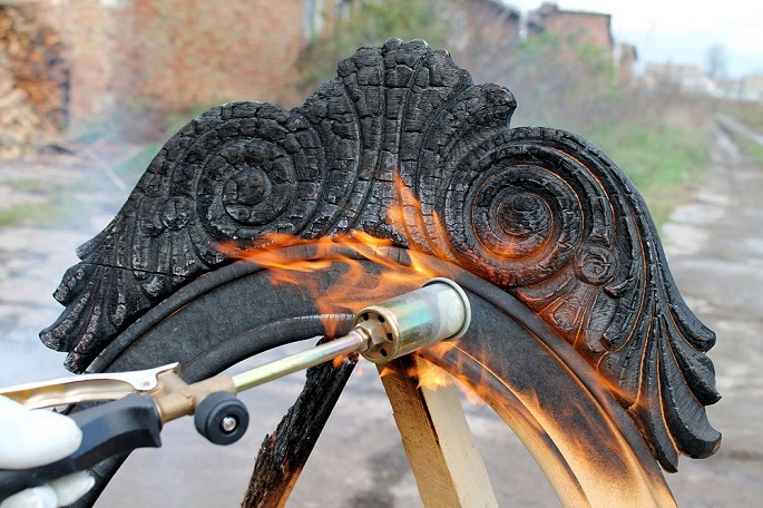 I love new ways of doing the usual. Who would have ever guessed that partially burned wood pieces could be a new way of producing furniture. producing furniture New way of producing furniture: Burning Yaroslav Galant 4