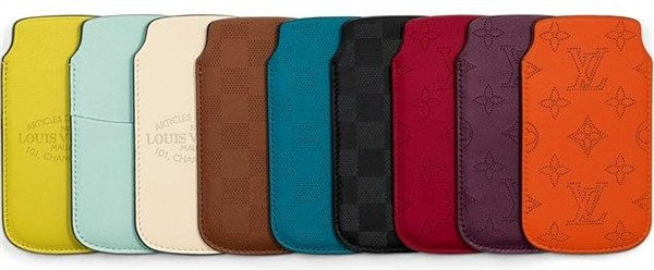 """""""Louis Vuitton decided to add to the collection with a line of Perforated Soft Leather Cases for Iphone 5.""""  Luxury iPhone covers from Louis Vuitton louis vuitton leather covers for apple devices"""