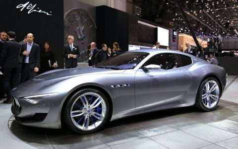 """Maserati built the Alfieri concept, unveiled at the 2014 Geneva show, for its 100th anniversary."""