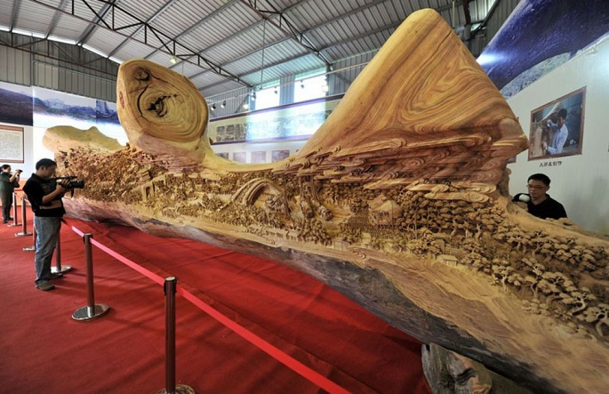 """""""The breathtaking beauty of his work simply can't be expressed in words, you must see for yourself."""" amazing sculpture 4 years long amazing sculpture Festival Qingming Zheng Chunhui 01"""