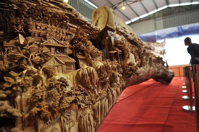 """""""The breathtaking amazing sculpture  simply can't be expressed in words, you must see for yourself."""" amazing sculpture 4 years long amazing sculpture Festival Qingming Zheng Chunhui 03"""