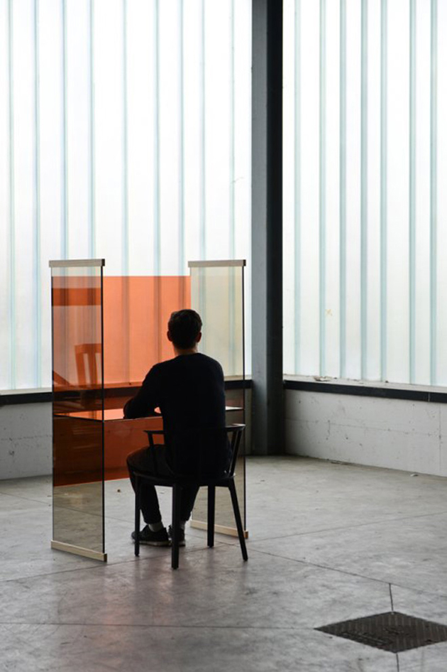 """""""Light and glass are intertwined matter, and Glas Italia plays with this alchemy in its modern glass furniture.""""  Glas Italia New Collection 1 diapositive thermo welded glass furniture by ronan erwan bouroullec for glas italia"""