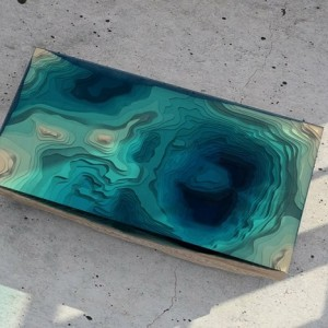 Mesmerizing table looks like ocean depths