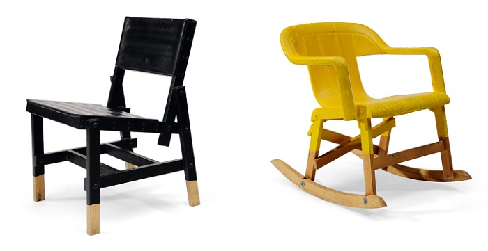 """""""Peter Traag is a furniture designer born in Tegelen in the Netherlands. He developed a new way of making exclusive furniture by hand.""""  Peter Traag modern furniture designs blackchair"""