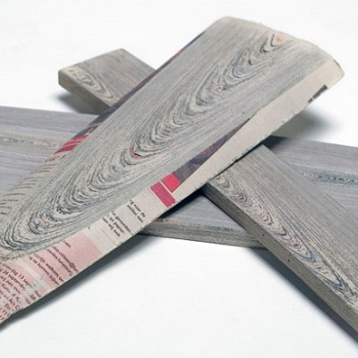 """""""With so much paper as the end result of making newspapers, Mieke envisioned an opportunity to upcycle the process and re-create wood"""""""