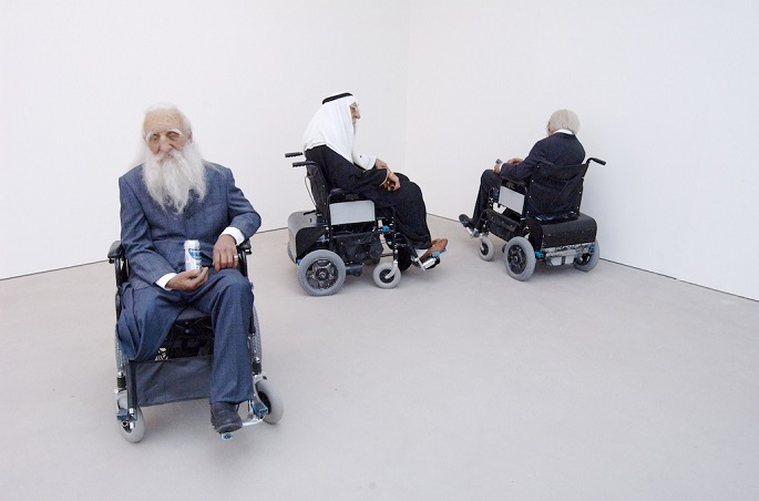"""""""Sun Yuan and Peng Yu are best known for shocking their audience through their controversial work with materials like human fat tissue and animals""""  Unique Sculptural Art by Sun Yuan and Peng Yu Old persons home by Sun Yuan and Peng Yu"""