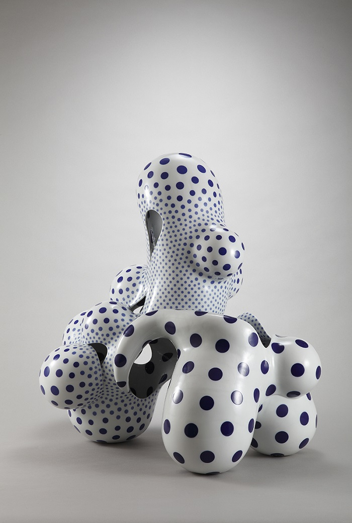 """Japanese artist Harumi Nakashima creates free-form ceramic sculptures that feature organic, yet psychedelic characteristics."""