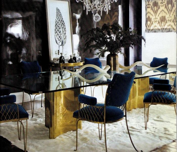 6 ELEGANT DINING ROOM TABLES IN BRASS 1  6 elegant dining room tables in brass 6 ELEGANT DINING ROOM TABLES IN BRASS 1