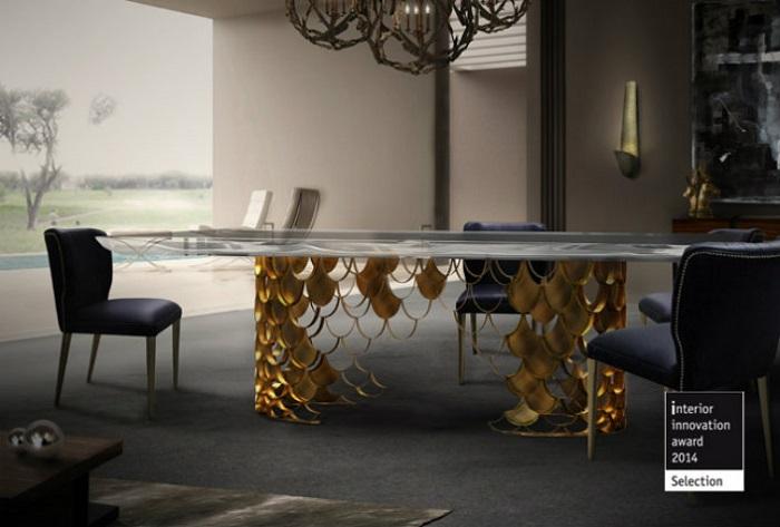 6 ELEGANT DINING ROOM TABLES IN BRASS 3  6 elegant dining room tables in brass 6 ELEGANT DINING ROOM TABLES IN BRASS 3