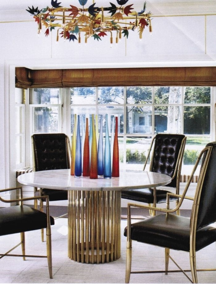 6 ELEGANT DINING ROOM TABLES IN BRASS 4  6 elegant dining room tables in brass 6 ELEGANT DINING ROOM TABLES IN BRASS 4
