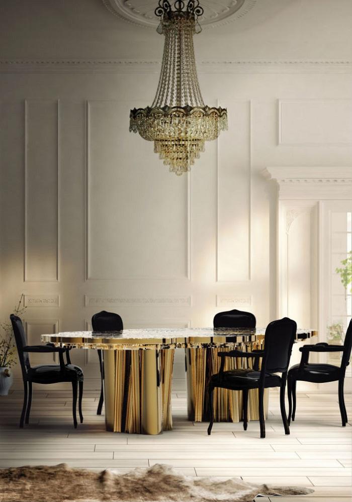 6 ELEGANT DINING ROOM TABLES IN BRASS bl  6 elegant dining room tables in brass 6 ELEGANT DINING ROOM TABLES IN BRASS bl