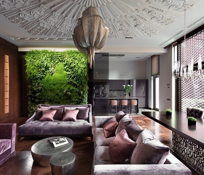 Architects and their living room sets Belle Epoque Residence imagined by Dream Design Studio