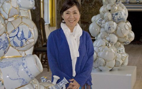 """""""Yee SooKyung creates sculptures that are crafted from rejected porcelain pieces made by contemporary Korean pottery master."""""""