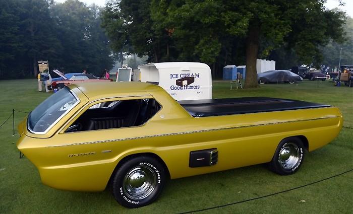 """""""The unique design Golden car 1965 Dodge Deora Concept is a dream for collectors."""""""