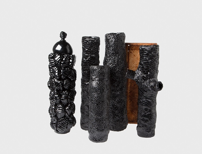 Inspired by the viability of creating a symbiotic relationship between humans and insects, Huissoud looked at two insects in particular – the honeybee and the Indian silkworm.  Sculptural objets made with insects waste Sculptural objets made with insects waste arts and crafts i lobo you8