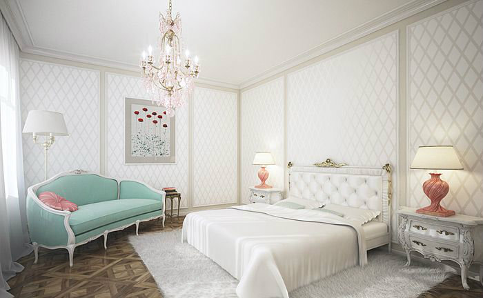 Bedroom Decorating Ideas  Bedroom Decorating Ideas white with some color