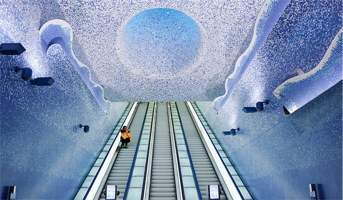 Top 20 most beautiful subway stations galleries   Top 10 most beautiful subway stations galleries  7