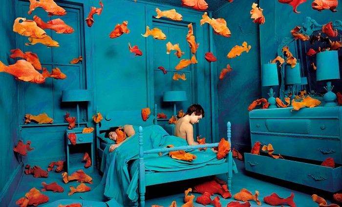 """""""Sandy Skoglund started creating surrealist images by building incredibly elaborate sets, a process which took months to complete."""""""