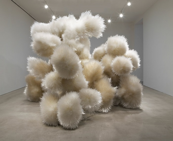 """""""Tara Donovan creates large-scale installations and sculptures made from everyday objects."""""""