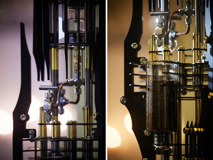 The amazing AKMA steampunk coffee machine based on supervillains  The amazing AKMA steampunk coffee machine based on supervillains dutch lab akma devil steampunk coffee machine supervillains designboom 03 1
