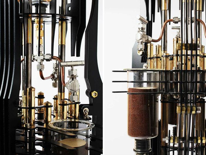 The amazing AKMA steampunk coffee machine based on supervillains  The amazing AKMA steampunk coffee machine based on supervillains dutch lab akma devil steampunk coffee machine supervillains designboom 08