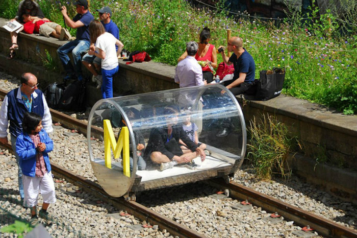 Technology future trends: urban railroad surfing vehicles  Technology future trends: urban railroad surfing vehicles hehe urban railroad surfing vehicles designboom 03