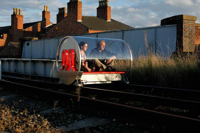 Technology future trends: urban railroad surfing vehicles  Technology future trends: urban railroad surfing vehicles hehe urban railroad surfing vehicles designboom 05