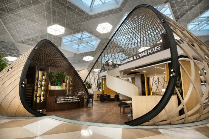 The Futuristic Terminal of Baku's Heydar Aliyev International Airport   The Futuristic Terminal of Baku's Heydar Aliyev International Airport  03 Baku Airport Autoban