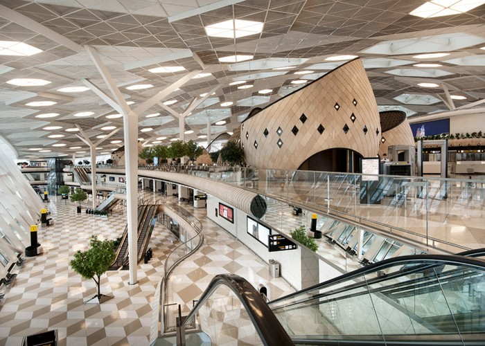 The Futuristic Terminal of Baku's Heydar Aliyev International Airport   The Futuristic Terminal of Baku's Heydar Aliyev International Airport  Heydar Aliyev Airport terminal by Autoban dezeen 784 0