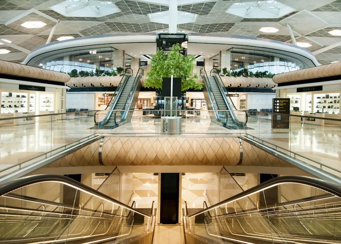 The Futuristic Terminal of Baku's Heydar Aliyev International Airport   The Futuristic Terminal of Baku's Heydar Aliyev International Airport  Heydar Aliyev Airport terminal by Autoban dezeen 784 1