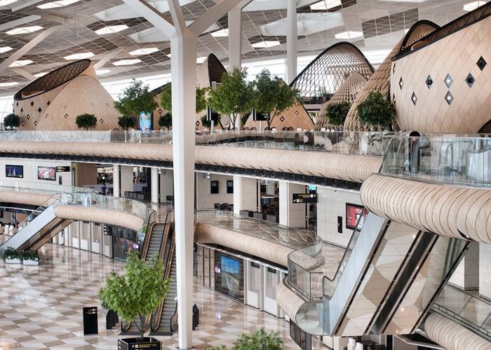 The Futuristic Terminal of Baku's Heydar Aliyev International Airport   The Futuristic Terminal of Baku's Heydar Aliyev International Airport  Heydar Aliyev Airport terminal by Autoban dezeen 784 4