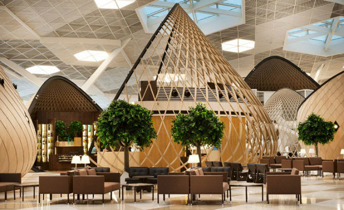 The Futuristic Terminal of Baku's Heydar Aliyev International Airport   The Futuristic Terminal of Baku's Heydar Aliyev International Airport  Increation LondonInteriorDesigners HeydarAliyev