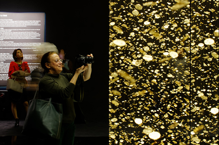 """""""The DGT Architects firm together with Japanese watchmaker CITIZEN, has created an amazing piece of installation art that breathes magic and life""""  Magical Golden installation with 65,000 watch baseplates  Magical Golden installation with 65000 watch baseplates artists i lobo you11"""