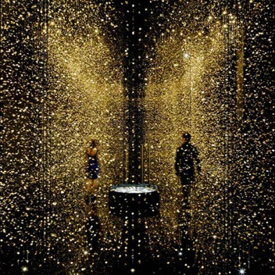 Magical Golden installation with 65,000 watch baseplates